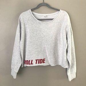 Zoozats Alabama Crimson Roll Tide crop sweater